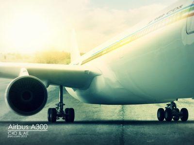 Airbus A300 - made with C4D.