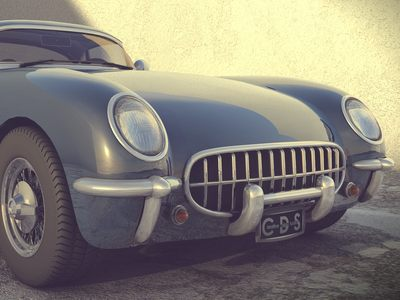 Chevy Corvette 1954 - made with C4D.