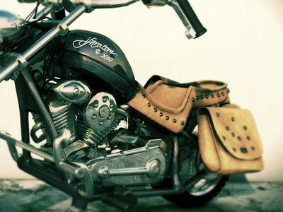 The older model of my Harley Davidson - made with C4D.