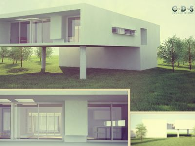 House in the green - made with C4D.