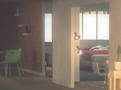 Apartment view - made with C4D.