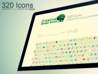 320 Icons - Iconpack for Android and your own Website, available for download on the download site - made with PS.